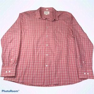 Bixby Nomad Pink Plaid Shirt Button Up Long Sleeve